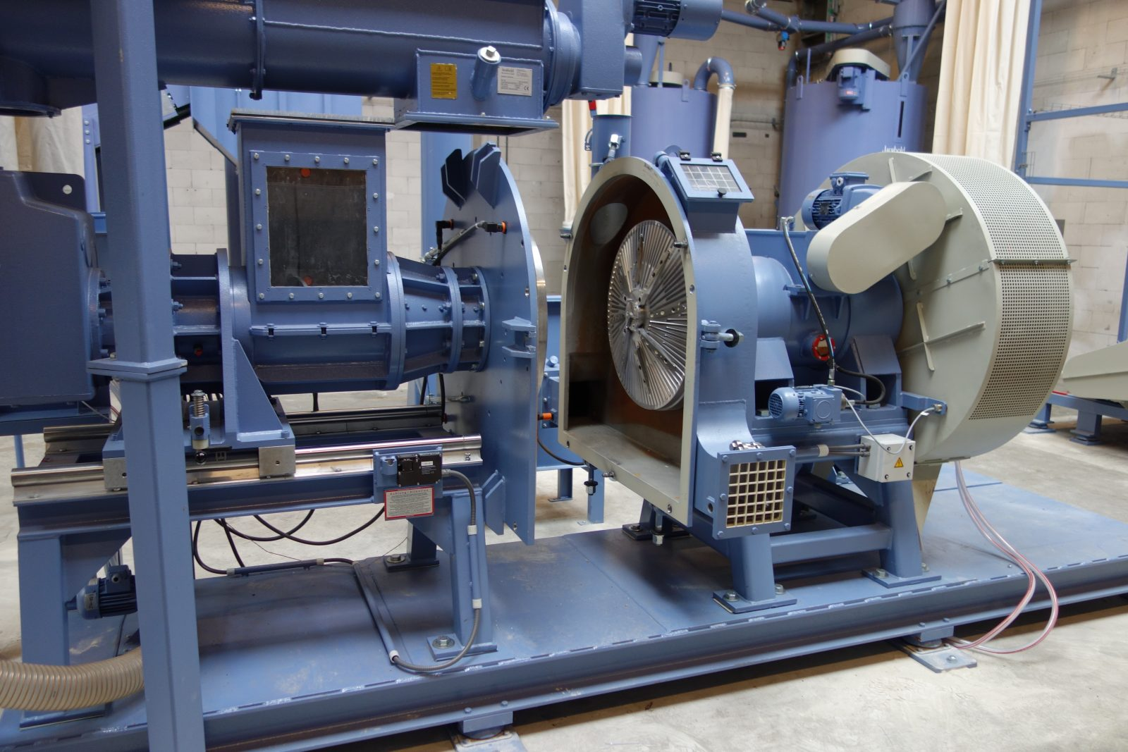 plast-compacteur HV 50 - installation complète
