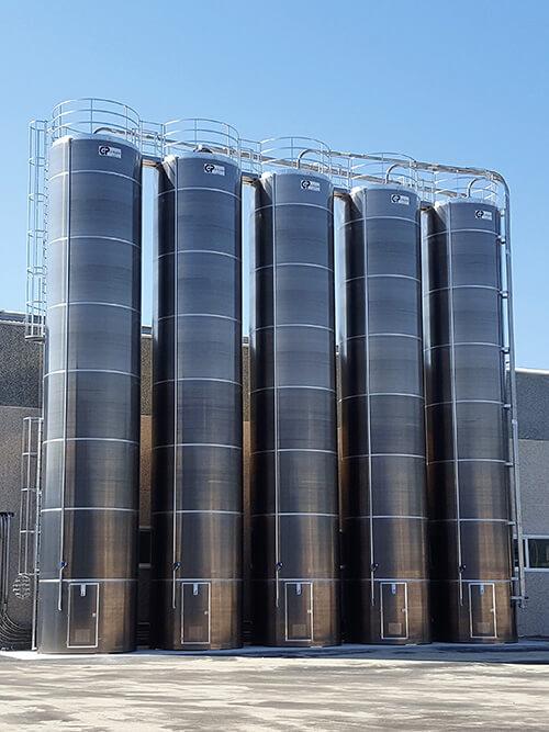 Silos de stockage statiques en aluminum