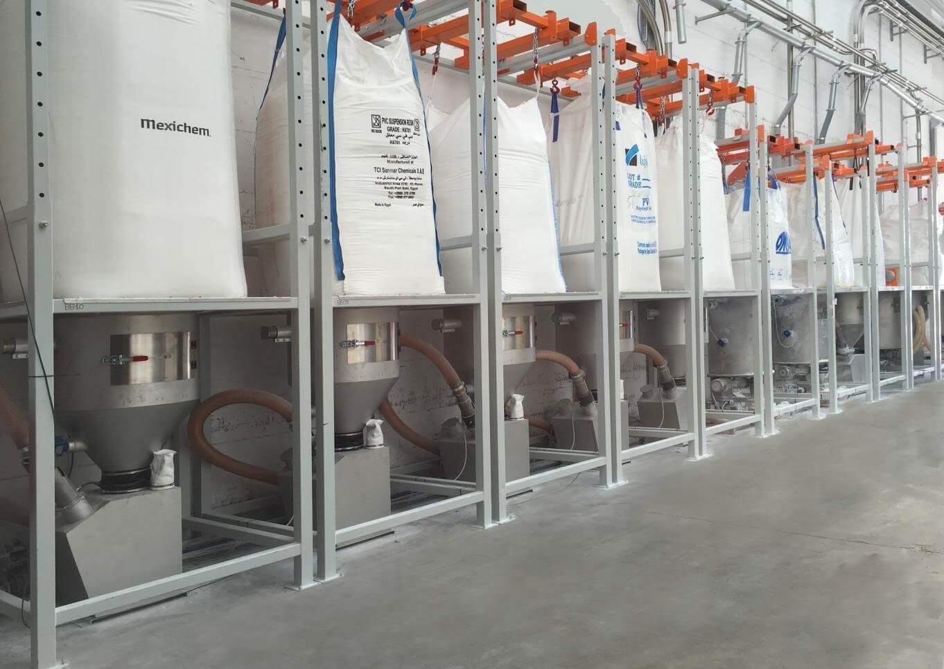 station de vidage big bag et transport de la matière plastique - bht b2bplast