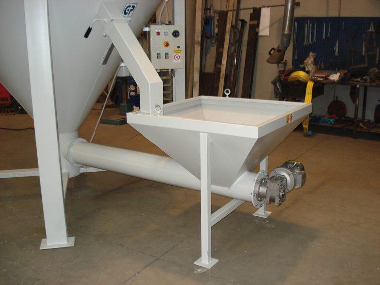 Trémie d'alimentation forcée pour silo mélangeur vertical pour matière plastique