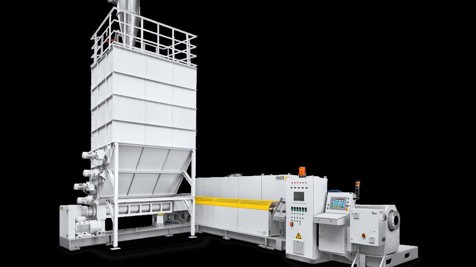 Machine de Granulation Plastique post consommation ou post consumer NGR F:GRAN