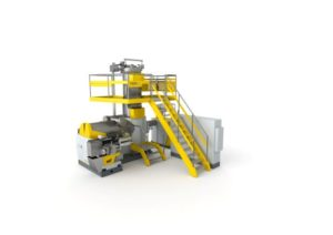 Machine de recyclage du PET en rPET de qualité alimentaire
